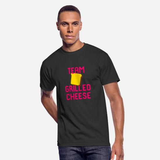 Love T-Shirts - Team Grilled Cheese Foodie Quote - Men's 50/50 T-Shirt black