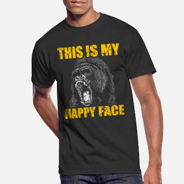 Gorilla Happy Gorilla Face - Men's 50/50 T-Shirt
