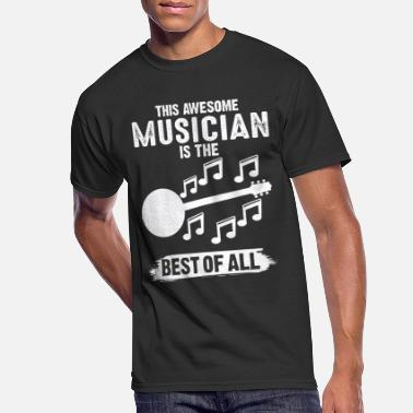 Mens T-Shirt Worlds Greatest BANJO Dad Musician Band Music Christmas Top