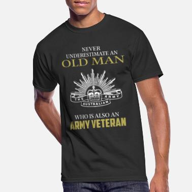 Army Man Old man who is Army veteran - Never underestimate - Men's 50/50 T-Shirt
