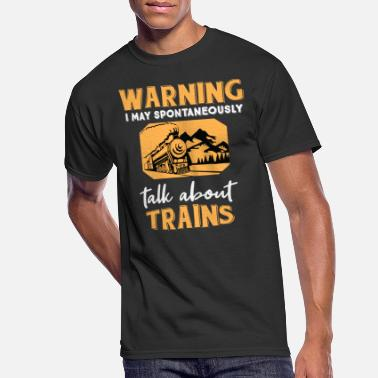 Steam Engine Funny Train Gift Steam Engine Locomotive Railway - Men's 50/50 T-Shirt
