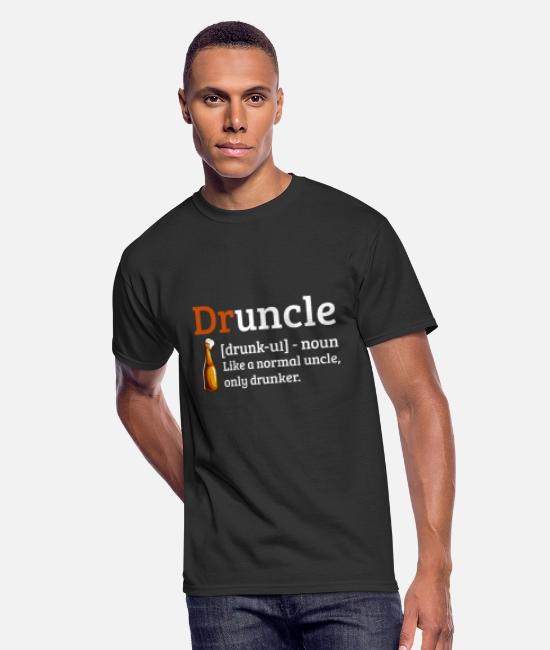 Master T-Shirts - Druncle Drunkle Like a normal Uncle but drunker - Men's 50/50 T-Shirt black
