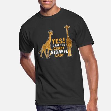 Giraffe Lady Camelopard Africa Zoo Wildlife Gift - Men's 50/50 T-Shirt