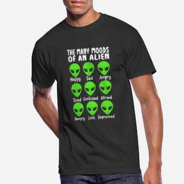 Mood Many Moods Of An Alien Funny Extraterrestrial Life - Men's 50/50 T-Shirt