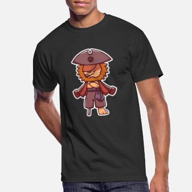 Wooden Leg pirate lion captain treasure hunt wooden leg gift - Men's 50/50 T-Shirt