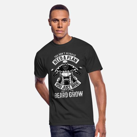 Grow T-Shirts - Chopper Biker Bike Beard Motorcycle Rider Gift - Men's 50/50 T-Shirt black