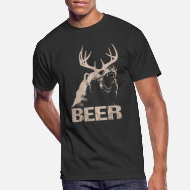 Hiking Beer Deer Bear - Men's 50/50 T-Shirt