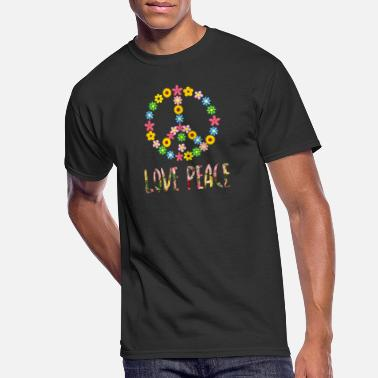 6d36a99e 70s Child Peace Sign Love 60s 70s Hippie Costume graphic - Men's