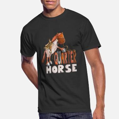 Western Riding Red Roan Quarter Horse - Gift - Western - Riding - Men's 50/50 T-Shirt