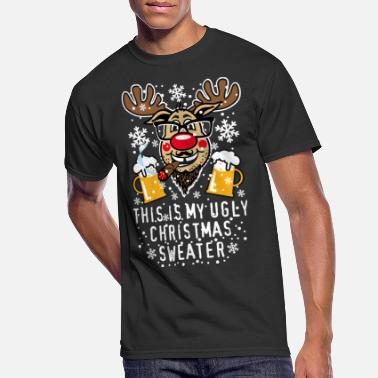 Rudolph 89 Reindeer Rudolph This My Ugly Christmas Sweater - Men's 50/50 T-Shirt