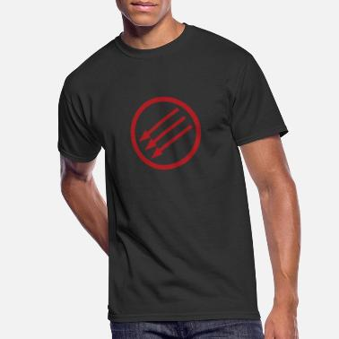 Arrows Three Arrows Iron Front Antifacist Antifascism - Men's 50/50 T-Shirt