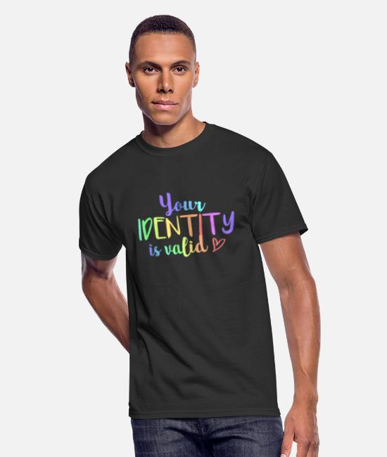 Gender T-Shirts - (youridentity) - Men's 50/50 T-Shirt black