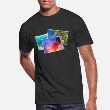 Polaroid surfing beach sunset summer gift - Men's 50/50 T-Shirt