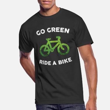 Go Green, Ride a Bike for Dark Fabric - Men's 50/50 T-Shirt