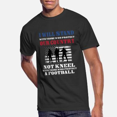I Will Stand I WILL STAND WITH THOSE WHO PROTECT OUR COUNTRY - Men's 50/50 T-Shirt