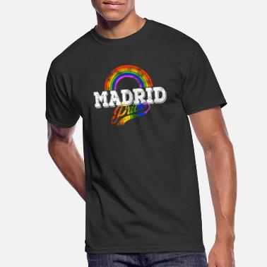 LGBT Madrid Gay Pride Spain CSD Queer Rainbow - Men's 50/50 T-Shirt