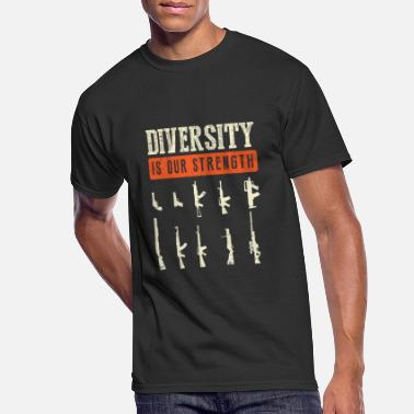 Diversity Diversity Is Our Strength Weapons Gun Collector - Men's 50/50 T-Shirt
