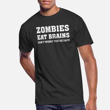 ZOMBIES EAT BRAINS - Men's 50/50 T-Shirt