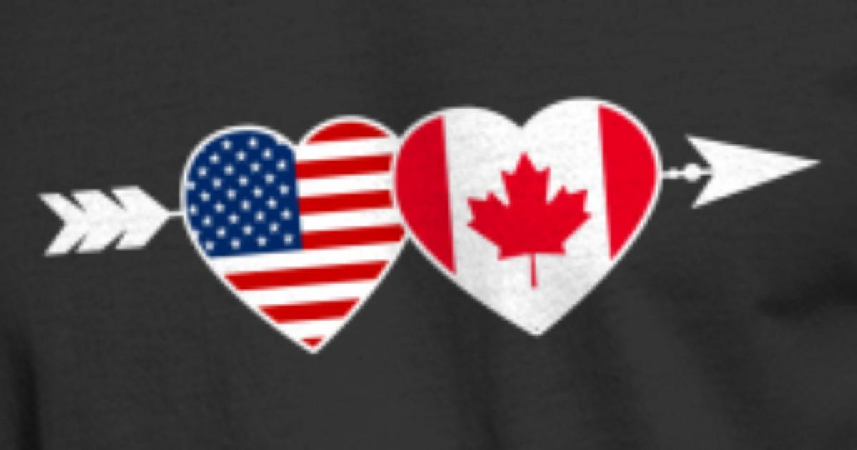 Cool Canadian - American Canada Flag - Country Men's 50/50 T-Shirt |  Spreadshirt