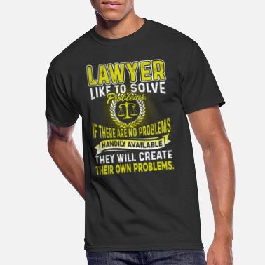 Solve LAWYER LIKE TO SOLVE PROBLEMS T SHIRT - Men's 50/50 T-Shirt