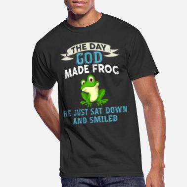 Frog The Day God Made Frog, He Just Sat Down And Smile - Men's 50/50 T-Shirt