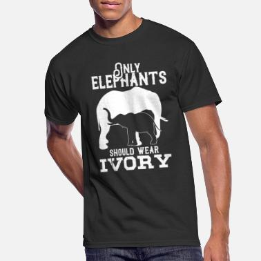 Ivory Only elephants should wear ivory gift rights love - Men's 50/50 T-Shirt