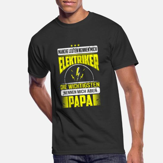 Shirts & Hemden Gift for Dad Electrician Mens Funny T Shirt