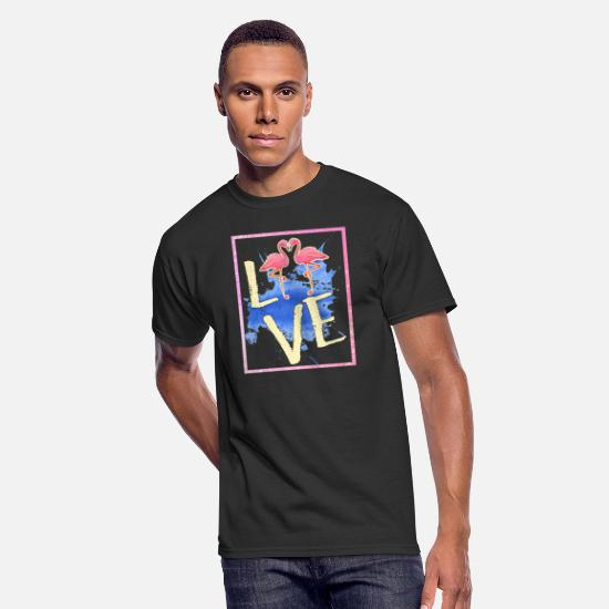 Flamingo T-Shirts - Flamingo Pink Bird Animal Trend Flamingoe Gift - Men's 50/50 T-Shirt black