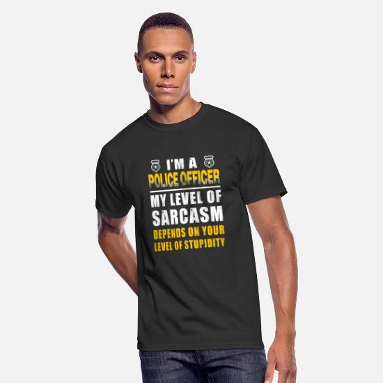 Love T-Shirts - Police officer - i'm a police officer my level o - Men's 50/50 T-Shirt black