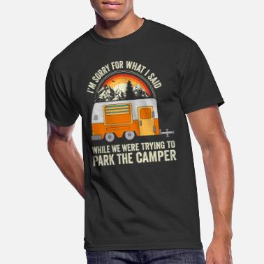 Summer Camping Gift - Park The Camper - Men's 50/50 T-Shirt