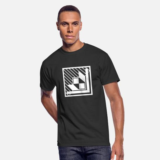 Symbol  T-Shirts - Abstract art with design forms 6 - Men's 50/50 T-Shirt black