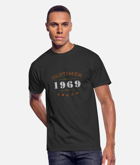 Original T-Shirts - born in 1969 legend of original birthday gift - Men's 50/50 T-Shirt black