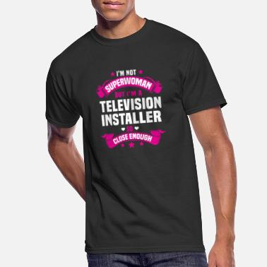 Television Installer Funny Television Installer - Men's 50/50 T-Shirt