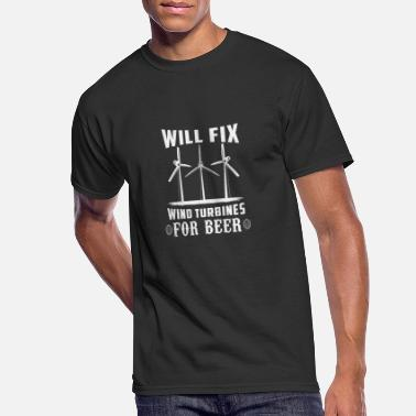 Renewable Wind Farm - Wind Turbine Technician Gift Idea - Men's 50/50 T-Shirt