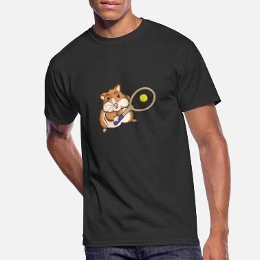 Animal Hamster Tennis Player - Men's 50/50 T-Shirt