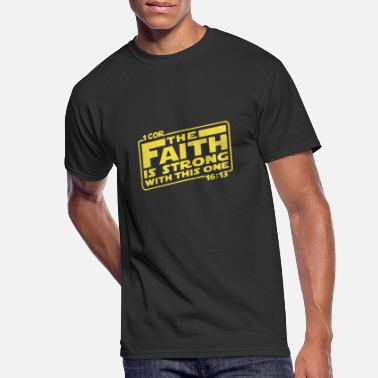 Cor first cor the faith is strong with this one yello - Men's 50/50 T-Shirt