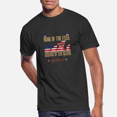 Home Of The Free Because Of The Brave Veteran - Men's 50/50 T-Shirt
