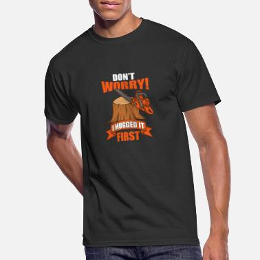 Worry Funny Carpenter Woodworker Lumberjack Chainsaw - Men's 50/50 T-Shirt