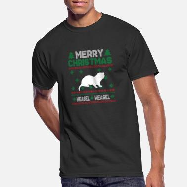 Weasel Cute Kids Weasel Ugly Christmas Tshirt - Men's 50/50 T-Shirt