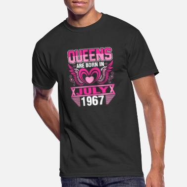 Born In 1967 Queens Are Born In July 1967 - Men's 50/50 T-Shirt