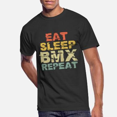 Bmx Eat sleep BMX repeat gift sport bike motocross - Men's 50/50 T-Shirt