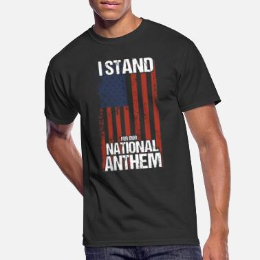 Anthem i stand for our nation anthem merica - Men's 50/50 T-Shirt