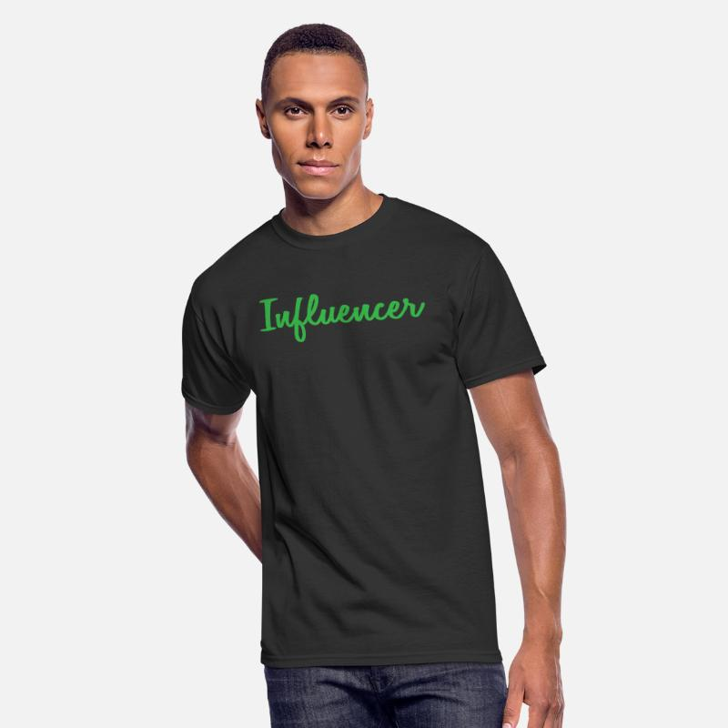 Career T-Shirts - influencer - Men's 50/50 T-Shirt black