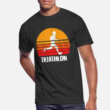 Triathlet Triathlon Sunset - Men's 50/50 T-Shirt