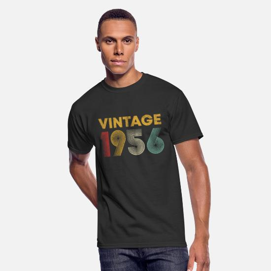 Vintage T-Shirts - 63rd Birthday Gift Vintage 1956 T-Shirt Men Women - Men's 50/50 T-Shirt black