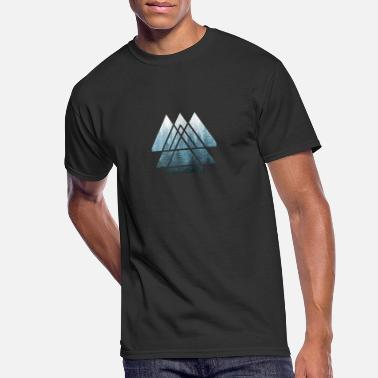 Geometry Sacred Geometry Triangles Misty Forest - Men's 50/50 T-Shirt