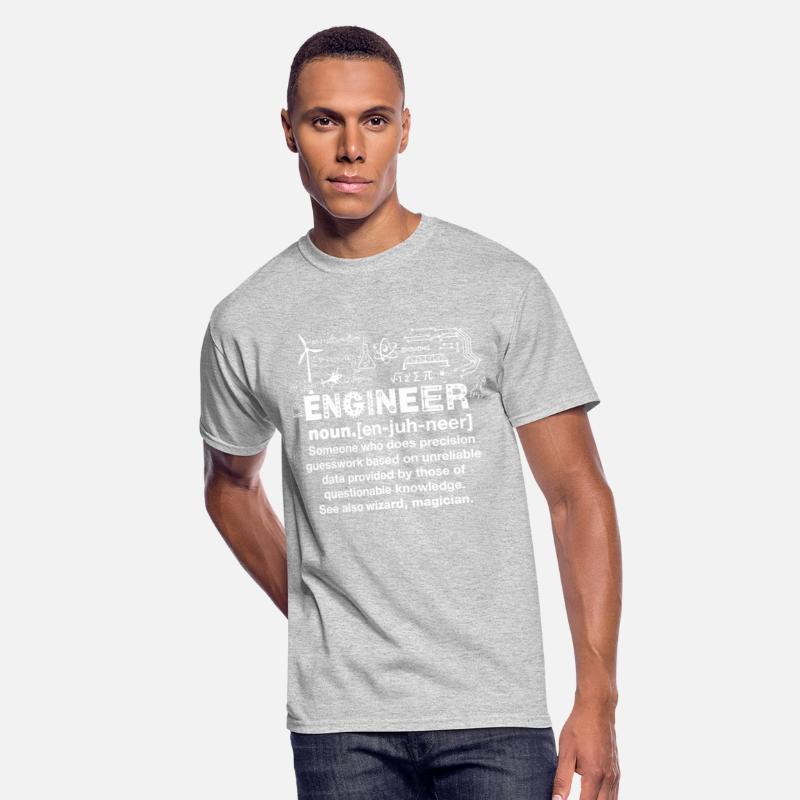 Engineer Humor Definition Men's 5050 T Shirt heather gray