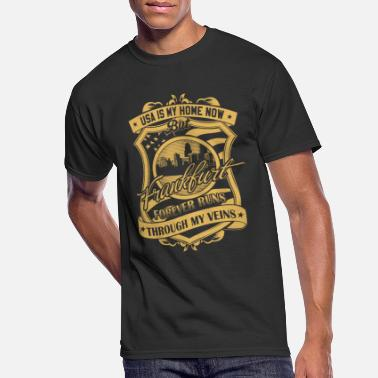 Sachsenhausen Frankfurt Germany forever runs through my veins - Men's 50/50 T-Shirt