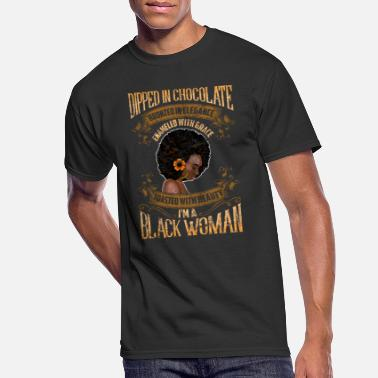 Dipped In Chocolate Enameled Grace Beauty Black Wo - Men's 50/50 T-Shirt