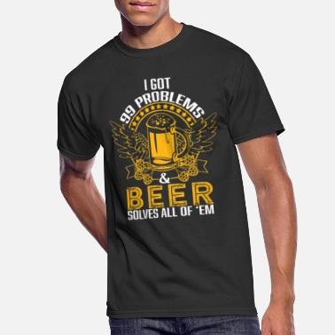 Free Beer Beer lover - I got 99 problems, beer solves all - Men's 50/50 T-Shirt